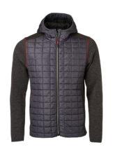 Mens Knitted Hybrid Jacket James & Nicholson - grey melange anthracite melange