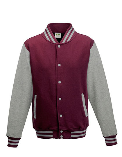 Varsity Jacket Just Hoods - burgundy/heather grey
