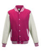 Varsity Jacket Just Hoods - hot pink/white