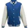 Varsity Jacket Just Hoods - royal/white