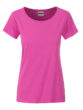 Ladies Basic T James & Nicholson - pink