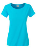 Ladies Basic T James & Nicholson - turquoise