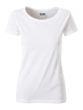 Ladies Basic T James & Nicholson - white