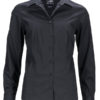 Ladies Business Shirt Long Sleeved James & Nicholson - black