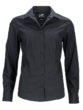 Ladies Business Shirt Long Sleeved James & Nicholson - black
