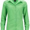 Ladies Business Shirt Long Sleeved James & Nicholson - lime green