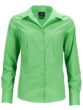 Ladies Business Shirt Long Sleeved James & Nicholson - lime green