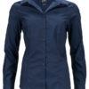 Ladies Business Shirt Long Sleeved James & Nicholson - navy