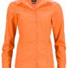 Ladies Business Shirt Long Sleeved James & Nicholson - orange