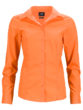 Ladies Business Shirt Long Sleeved James & Nicholson - orange
