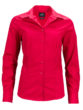 Ladies Business Shirt Long Sleeved James & Nicholson - red