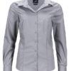 Ladies Business Shirt Long Sleeved James & Nicholson - steel