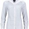 Ladies Business Shirt Long Sleeved James & Nicholson - white