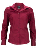 Ladies Business Shirt Long Sleeved James & Nicholson - wine
