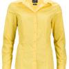Ladies Business Shirt Long Sleeved James & Nicholson - yellow
