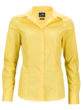 Ladies Business Shirt Long Sleeved James & Nicholson - yellow