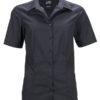 Ladies Business Shirt Short Sleeved James & Nicholson - black