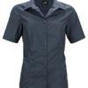 Ladies Business Shirt Short Sleeved James & Nicholson - carbon