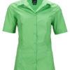 Ladies Business Shirt Short Sleeved James & Nicholson - lime green