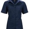 Ladies Business Shirt Short Sleeved James & Nicholson - navy