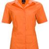 Ladies Business Shirt Short Sleeved James & Nicholson - orange