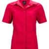 Ladies Business Shirt Short Sleeved James & Nicholson - red