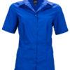 Ladies Business Shirt Short Sleeved James & Nicholson - royal