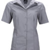 Ladies Business Shirt Short Sleeved James & Nicholson - steel grey