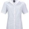 Ladies Business Shirt Short Sleeved James & Nicholson - white