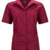 Ladies Business Shirt Short Sleeved James & Nicholson - wine