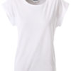 Ladies Casual T James & Nicholson - white