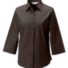 Ladies Fitted Shirt Russel - chocolate brown