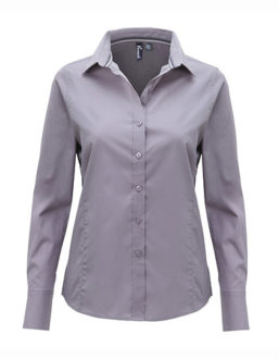 Ladies Long Sleeve Fitted Friday Bar Shirt Premier - steel