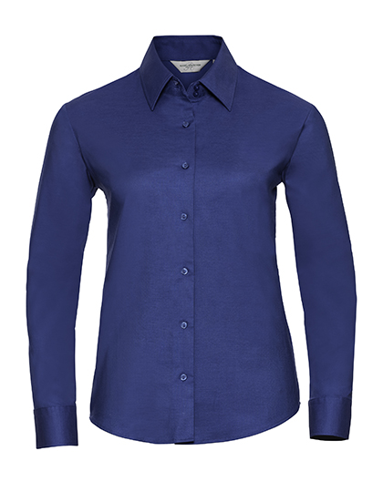 Ladies Long Sleeve Oxford Shirt Russel - aztec blue