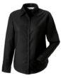 Ladies Long Sleeve Oxford Shirt Russel - black