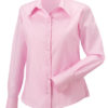 Ladies Long Sleeve Ultimate Non Iron Shirt Russell - classic pink
