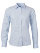 Ladies Shirt Longsleeve Poplin James & Nicholson - light blue