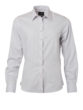 Ladies Shirt Longsleeve Poplin James & Nicholson - light grey