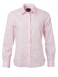 Ladies Shirt Longsleeve Poplin James & Nicholson - light pink