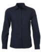 Ladies Shirt Longsleeve Poplin James & Nicholson - navy