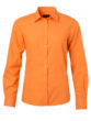 Ladies Shirt Longsleeve Poplin James & Nicholson - orange