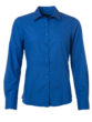 Ladies Shirt Longsleeve Poplin James & Nicholson - royal