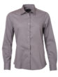 Ladies Shirt Longsleeve Poplin James & Nicholson - steel grey