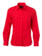 Ladies Shirt Longsleeve Poplin James & Nicholson - tomato