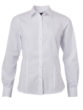Ladies Shirt Longsleeve Poplin James & Nicholson - white