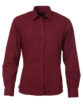Ladies Shirt Longsleeve Poplin James & Nicholson - wine