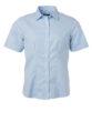 Ladies Shirt Shortsleeve Oxford James & Nicholson - light blue