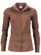 Ladies Shirt Slim Fit James & Nicholson - brown