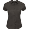 Ladies Short Sleeve Fitted Shirt Russel - black