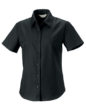Ladies Short Sleeve Oxford Shirt Russel - black